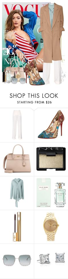 """""""Shape of Vogue"""" by eleonoragocevska ❤ liked on Polyvore featuring Dolce&Gabbana, Christian Louboutin, Prada, NARS Cosmetics, Chloé, Elie Saab, Yves Saint Laurent, Chanel, Rolex and Blue Nile"""