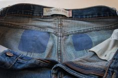 Sally Ann: Patching jeans