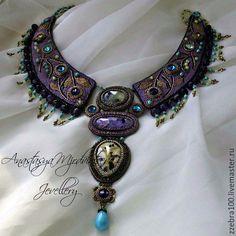 """Купить Колье """"Покахонтас Glamm"""" - разноцветный, подарок, украшение на шею, украшения ручной работы"""