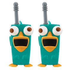 Phineas And Ferb Perry-Diculously Cool Walkie Talkies by KIDdesigns, Inc. $24.99. From the Manufacturer                The ultimate in phineas and ferb communica-nators, these walkie talkies will help you and a friend have long-range conversations.  Long-range walkie talkies (approximate 1 mile range). Cool perry the platypus design. LED power indicator. Set includes 2 walkie talkies.                                    Product Description                The ultimate in Ph...