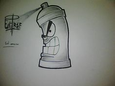 graffiti spray can drawing easy