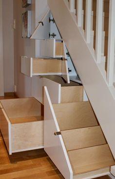 Oppbevaring - Interiørarkitektens beste oppbevaringstips - viivilla.no Wardrobe Room, Wardrobe Ideas, Small Closet Space, Hanging Canvas, Stair Storage, Stairway To Heaven, Under Stairs, Storage Spaces, Storage Ideas