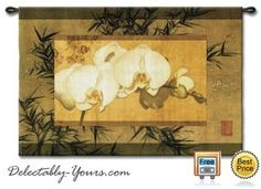 """Bamboo and Orchids II Wall Hanging 39"""" x 26"""""""