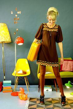 """Knielange Kleider - PASSENKLEID """"SUMMER"""" MIT WEITEN ÄRMELN - ein Designerstück von Bonnie-and-Buttermilk bei DaWanda"""