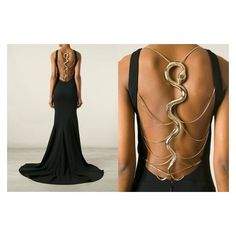 Cavalli snake-back gown | Fierce Fashion | Pinterest ❤ liked on Polyvore featuring roberto cavalli