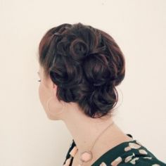 Wedding/shower season is here! It's always fun to have pretty hairstyles for these occasions! This one is easy  beautiful!