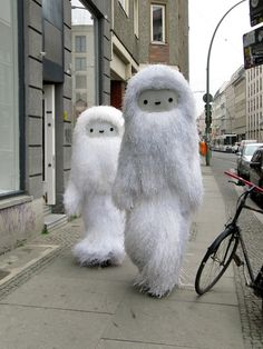 Pictoplasma beings. I would love to walk around in one of these for a day!!