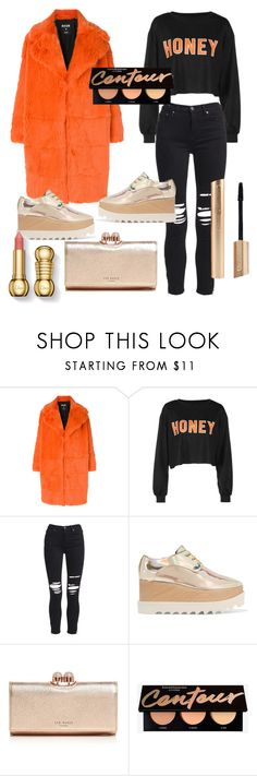 """""""new-year look #2"""" by samantha-mcdee ❤ liked on Polyvore featuring MSGM, AMIRI, STELLA McCARTNEY and Ted Baker"""