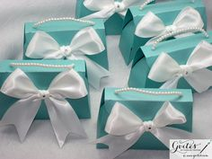 Large Tiffany Blue Favor Wedding Breakfast at Tiffany's by Gvites