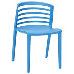 Twist Dining Side Chair in Blue
