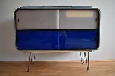 VINTAGE-RETRO-1950-039-s-60-039-s-SIDEBOARD-KITCHEN-UNIT-Raymond-Loewy-Design