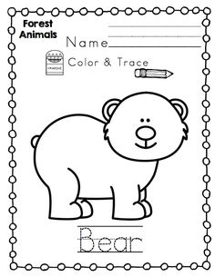 Forest Animals For Toddlers Printable Preschool Printables