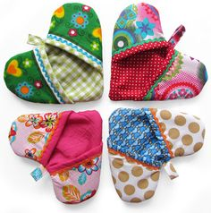 Handy Oven Mitt - the shape of a heart - sewing instructioons (dutch)