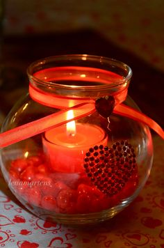 Easily put-together Valentine's Day Candle
