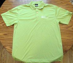 Nike Dri Fit Golf Shirt Sz L Light Green Erie Ins Embroidered Logo Men's EUC #NikeDriFit #PoloRugby
