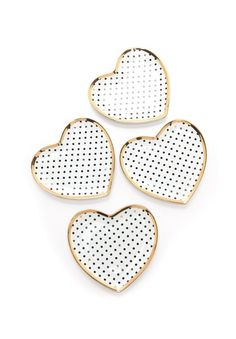 Swiss Dot Appetizer Plate Set #hostessgift
