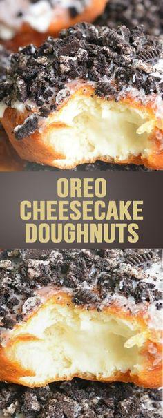 Oreo Cheesecake Doughnuts - All Recipe