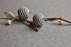 necklace with crochet beads by MarianneS