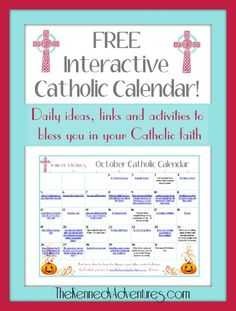 Keep up with the Catholic Church's feast days & Holy Days with an interactive family calendar, filled with ideas and activities to help you live your faith.
