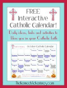 Catholic Family Calendar Activity october