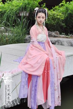 Beautiful Lavender and Pink Tang Style Ruqun