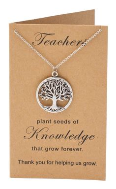 Guaranteed safe and secure checkout via: Paypal | VISA | MASTERCARD Click Add to Cart now to order! Satisfaction guaranteed or your money back! Shipping & Returns Why We Love It Show how much you appreciate your teachers with our Mia Tree of Life Necklace with Thank You Cards, Teacher Gifts. The World Tree or Tree of Life is an inspirational jewelry that symbolizes the characteristics our teachers possess: wisdom, strength, and resilience. Give them a reason to smile on Teachers Day, on…