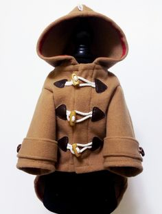 Dog Cashmere Brown Duffle coats, puppy clothes, pet hoodies, small dogs outerwears, luxury dog jacket, cute puppy hoodie, winter dog sweater by puppydoggyclothes on Etsy