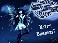 Happy Birthday! Harley Davidson Fairy