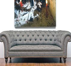 George Smith chesterfield loveseat