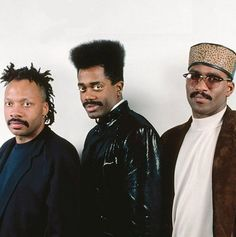 Cameo, soul-influenced funk group. Initially a 13-member group (created by Larry Blackmon, center)