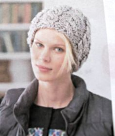 #Knit this cable hat using DPN's. This is a free pattern download available from #Lion Brand yarns. Go to their website and download it today. You can read a...