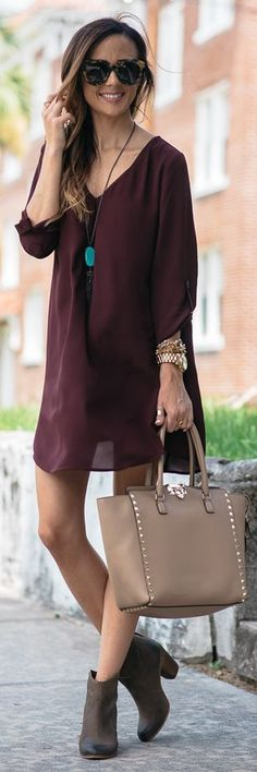 Wine Lovely Shift Dress by Sequins & Things SHOP @ CollectiveStyles.com