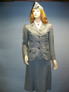 VERY RARE WWII Red Cross Womans Female Ladys Summer Uniform