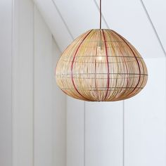 Wicker Orb Pendant   PBteen Over bar maybe