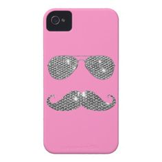 Funny Diamond Mustache With Glasses