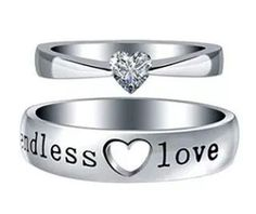 Boyfriend and girlfriend rings
