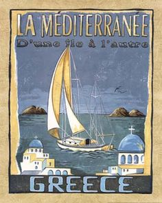 Vintage travel poster of Greece #kitsakis