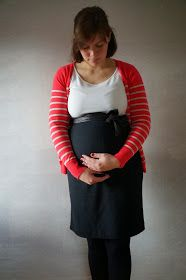 ... mit dem Hang zur Nadel: Kugelzeit - Bleistiftrock für Schwangere