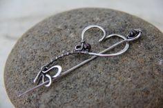 Shawl pin scarf pin brooch Key to my heart in by Keepandcherish
