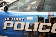 A Detroit police officer suffered a gunshot to his foot, and an 18-year-old a gunshot to his chin during a traffic stop near Chalmers and Rosemary in Detroit Saturday afternoon,