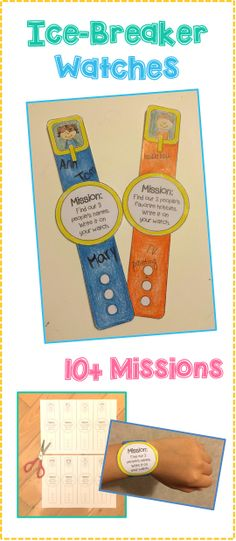 Ice Breaker Watches! - Super cute ice breaker idea where kids complete missions.   Exclusive freebies, giveaways and updates with Roller English at: www.facebook.com/rollerenglish