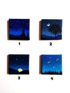 Canvas Painting Designs, Small Canvas Paintings, Easy Canvas Art, Canvas Painting Tutorials, Small Canvas Art, Easy Canvas Painting, Mini Canvas Art, Korean Stationery, Drawing