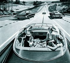 In the future (i.e. circa 1990), our cars will drive themselves while we play board games with the kids.