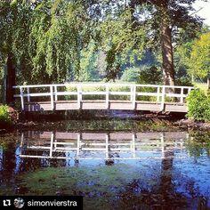 Brug tussen hemel en aarde... Bridge between heaven and earth... #brug #bridge #Bussum #Bantam #boom #tree #hemel #heaven #spiegel #mirror #virtual