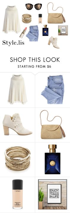 """Untitled #926"" by melissaralph ❤ liked on Polyvore featuring Chicwish, Essie, Geox, Mar y Sol, Sole Society, Versace and MAC Cosmetics"