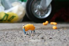 """Little People Project"" created by Slinkachu"