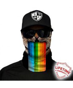ae4a1067df Salt Armour Face Mask Shield Protective Balaclava Bandana Microfiber Tube  Neck Warmer (Rainbow Cat) CG187RGQESE