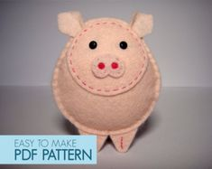Easy to sew felt PDF pattern. DIY Pepe' the Chiwawa, finger puppet, ornament. by Phoraminiphera