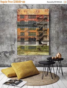 Old Building. Extra Large Fine Art Canvas Print up to