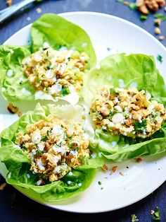 These healthy chickpea lettuce wraps are so quick and easy to put together, taste great, are vegetarian, and of course, are super healthy!